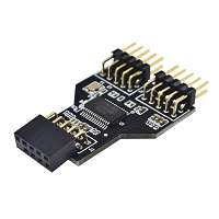 9-Pin USB Header Female to 2 x Male Board 9-Pin Adapter
