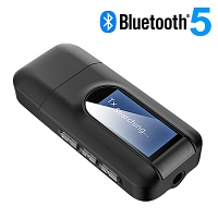 2-in-1 USB Bluetooth Adapter with LCD Display