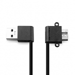 USB 3.0 A Male (Left 90°) to USB 3.0 micro B Male (Angled) Short Cable