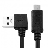 USB 3.0 A Male (Left 90°) to USB 3.1 Type-C Short Cable