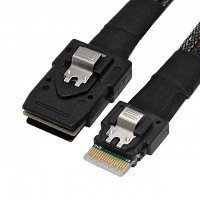Slim SAS 4.0 SFF-8654 4i 38pin Host to Mini SAS 4i SFF-8087 36pin Target Cable