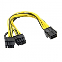 PCI-E ATX 6Pin Male to Dual 8Pin & 6Pin Female Video Card Splitter Power