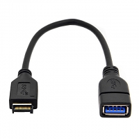 USB 3.1 Front Panel Header Type-E Male to USB 3.0 Type-A Female Short Cable