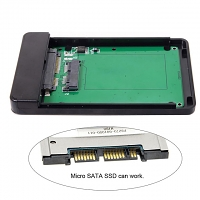 Type-C to micro SATA (7+9-pin) HDD Enclosure