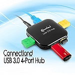 Connectland USB 3.0 4-Port Hub