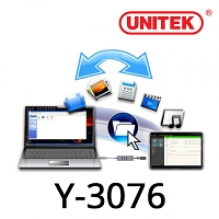 UNITEK Y-3076 USB3.0 3-Port Hub + KM Swap & File Transfer