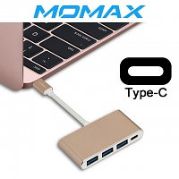 Momax Elite Link - Type-C 4-Port Adapter