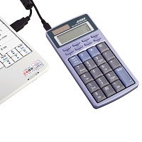 USB Solar Calculator + Keypad