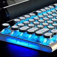 USB Steam Punk Illuminated Game Keyboard