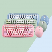 Candy Colorful Wireless Dot Keyboard Combo