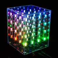 4x4x4 Multi-Color LED Cube