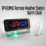 RF433MHZ Remote Weather Station Alarm Clock