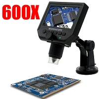 600X Portable Digital Microscope with LCD Display