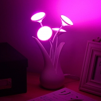 USB Light Sensor Flower LED Light