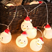 Mini Snowman Head Decor Light