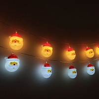 Santa Claus Head Decor Light