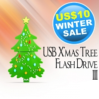 USB X'mas Tree Flash Drive III