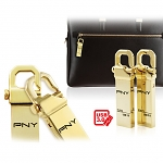 PNY Hook Attache Gold USB 3.0 Flash Drive