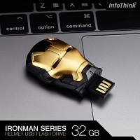 infoThink Iron Man USB Flash Drive (Black Gold Version)