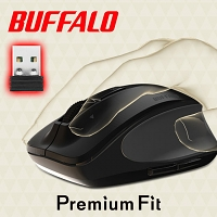 Buffalo Premium Fit Wireless Silent Mouse
