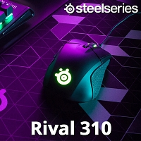 SteelSeries Rival 310 TrueMove3 Sensor Illuminated Gaming Mouse