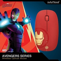 infoThink Avengers Series Wireless Optical Mouse - Iron Man