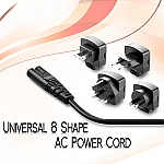 Universal 8 Shape AC Power Cord