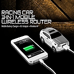 Racing Car 3-in-1 Mobile Wireless Router