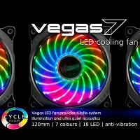 Vegas 7 12cm LED Cooling Fan