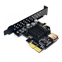 USB 3.1 Front Type-E Expansion Card USB 3.0 PCIe x 2 Adapter