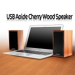 USB Aoide Cherry Wood Speaker