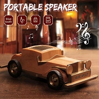Wooden Retro Vintage Car Bluetooth Speaker