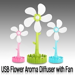 USB Flower Aroma Diffuser with Fan