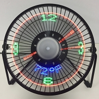 USB LED Clock Desktop Fan