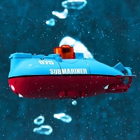 Infrared Light Control Ultra-Small Submarine