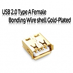 USB 2.0 Type A Female Bonding Wire shell Gold-Plated