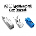 USB 3.0 Type B Male Shell (3pcs Standard)