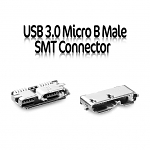 USB 3.0 Micro B Male SMT Connector