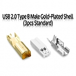 USB 2.0 Type B Male Gold-Plated Shell (3pcs Standard)