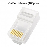 Cat5e RJ45 8P8C Modular Plug Connector - Cat5e Unbreak (100pcs)
