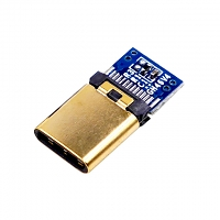 USB 3.1 Type C Male SMT+PCB Connector (3.1 version - Gold-Plated)