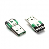 microUSB 7-Pin Male Solder Connector (support high current)