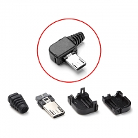 microUSB Male Shell with Horizontal 90° (4pcs Standard) (13 x 10mm)