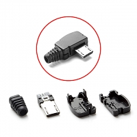 microUSB Male Shell with Horizontal 90° (4pcs Standard) (16 x 9mm)