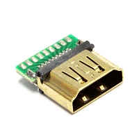 HDMI Female SMT+PCB Connector