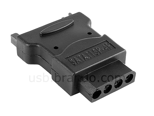 SATA 15-pin Male to 12V 4-pin Female Power Adapter