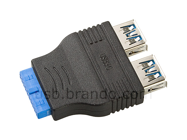 USB 3.0 20-Pin Header to USB 3.0 Type-A Connector