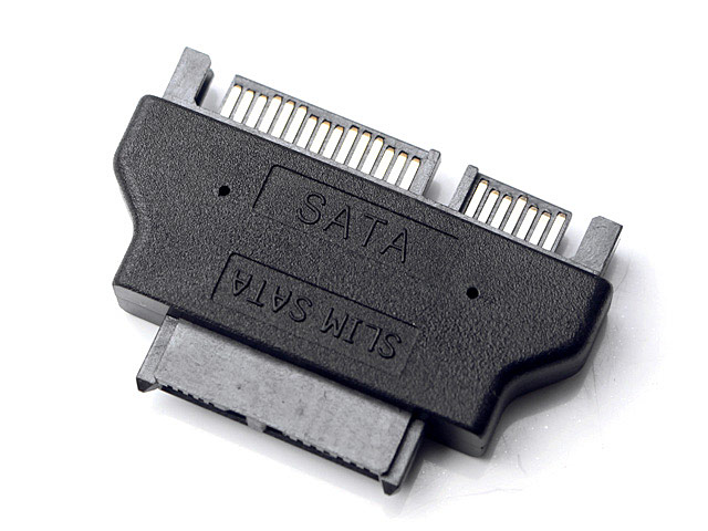 Slim SATA (7+6-pin) Female to SATA 22-Pin Male Adapter