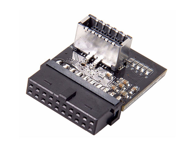 USB 3.1 Front Panel Header Type-E to USB 3.0 20-Pin Header Male Extension Adapter for Motherboard
