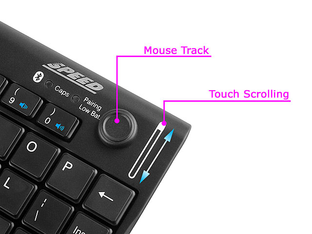 Mini Bluetooth Keyboard With Mouse Track